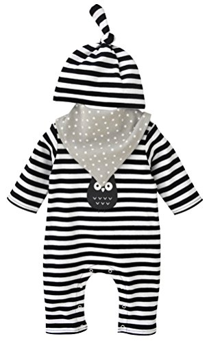 Baby Boy Girl Romper Striped Print Long Sleeve Jumpsuit Playsuit Outfits,0-3 Months - Totoro Costume Ideas