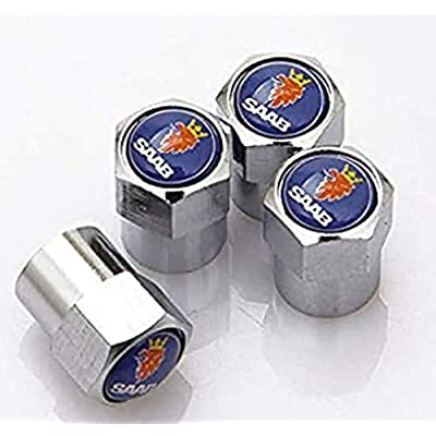 QOMNHNDE Tire Valve Cap Apply to for SAAB(A Set of 4 Plus an Extra): Automotive [5Bkhe0915755]