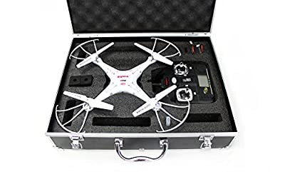 Syma X5C-1 Quadcopter Drone Bundle with Carrying Case and extra batteries! Newest 2015 X5C-1 White version