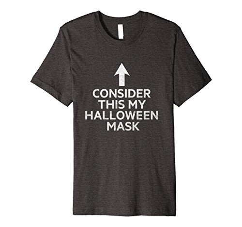Mens The perfect tee shirt for those without a Halloween costume! XL Dark Heather