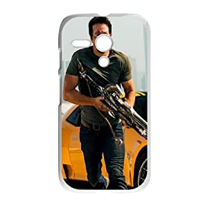 Motorola G Cell Phone Case White Mark Wahlberg In Transformers 4 VIU145508