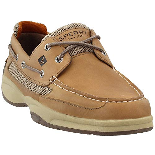 Sperry Lanyard 2-Eye Boat Shoe,Linen,10.5 M US (Best Sperry Boat Shoes)