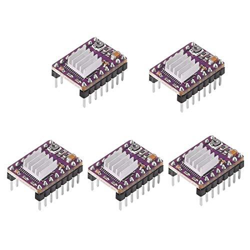 - 5PCS DRV8825 Compatible Stepper StepStick Motor Diver Module with Heat Sink for 3D Printer Controller Rrerap Ramps 1.5 1.6 CNC Machine or Robotics