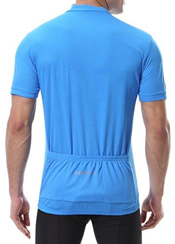 5f50bd4fa Spotti Men s Basic Short Sleeve Cycling Jersey - Bike Biking Shirt (Blue