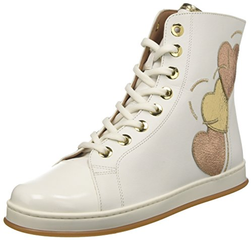 Twin Set Damen Cs8pja Hohe Sneaker Elfenbein (Bianco Ottico)