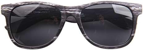 SojoS Wood Grain Brand Designer Rivets Wayfarer Sunglasses for Men
