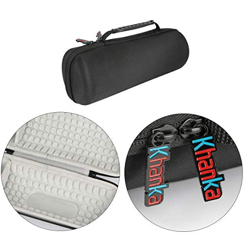 Khanka Hard Travel Case Replacement for JBL Charge 3 Waterproof Portable Wireless Bluetooth Speaker. Extra Room for Charger and USB Cable (Gray)