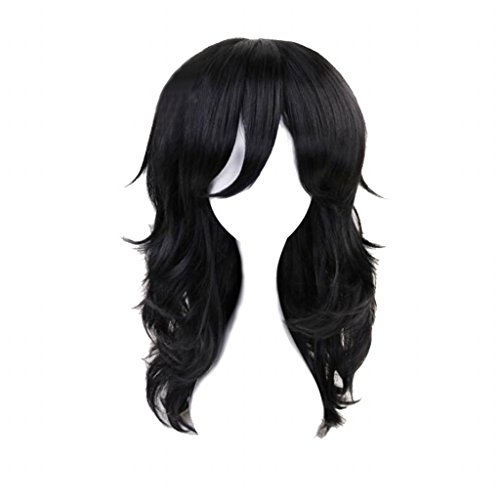 Ani·Lnc Cosplay Party Wigs Anime Long Black Cosplay Wig with free Cap]()
