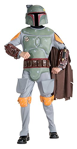 Kids-Costume Child Deluxe Boba Fett Lg Halloween Costume - Child Large