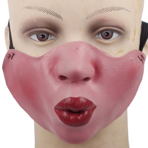 ITOPAI Funny Half Face Silicone Halloween Party Costume Masks (Pout) -