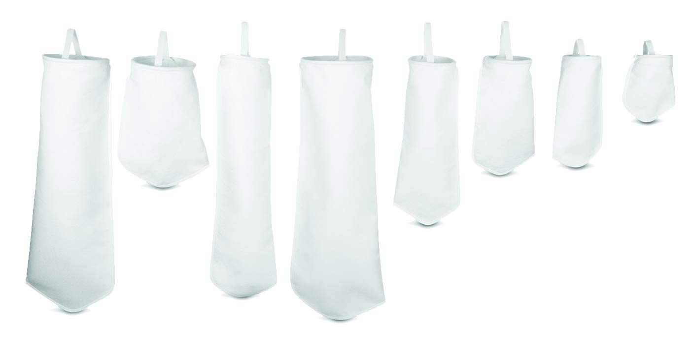 "Rosedale Products PO-75-P4S Polypropylene Felt Filter Bags Pack of 50 White 4/"" x 12/"""