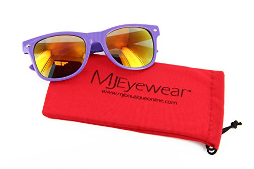 MJ Eyewear Neon Retro Sunglasses Color Mirror Lens (Purple, Color Mirror - Sunglasses Retro Neon