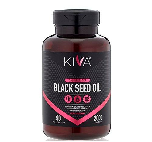 (Kiva Black Seed Oil Capsules - Organic, Cold-Pressed and RAW (90 Softgels))
