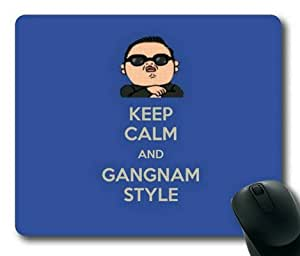 Keep Calm and Gangnam Style Rectangle Non-Slip Mousepad