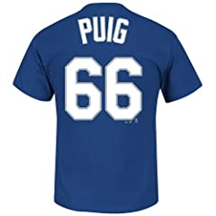 Yasiel Puig Los Angeles Dodgers Jersey Name and Number T-Shirt