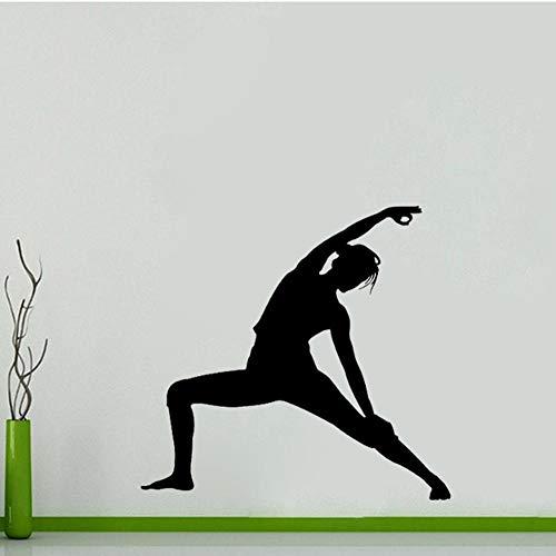 Etiqueta engomada de la pared de la gimnasia de Los 53.5CM 51CM que sienta el PVC del dormitorio personalizado (Que Es El Medio Ambiente Para Ninos)