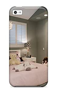Hot Faddish Girls Pale Gray Bedroom Is Softened By Pink Bedding And White Furnishings Case Cover For Iphone 5c 2743320K29306354