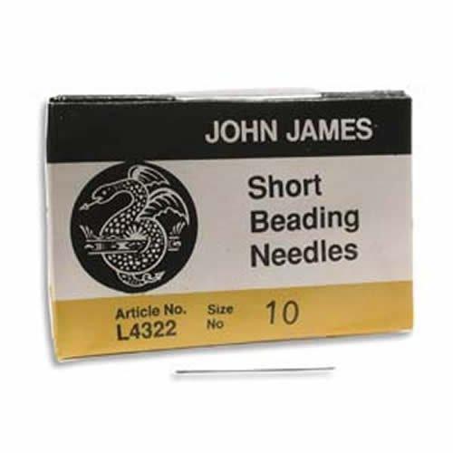 John James English Beading Needles, Shorts, Size 10