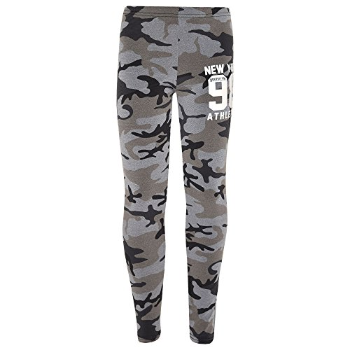 Ans Athlectic 11 Branché 9 amp; Kids® 4 Filles Top 10 13 Noir Legging Set 98 8 12 Âge Brooklyn York Gris A2z 7 Mode Camouflage New Imprimé 1SqwAw0