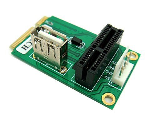 PCIe PCI Express 1X or USB Card to Mini PCI-E Adapter by Sintech (Image #3)