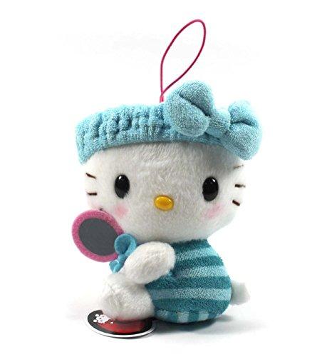 Eikoh Hello Kitty Fresh Bath Time Plush Strap - 5' Blue Mirror