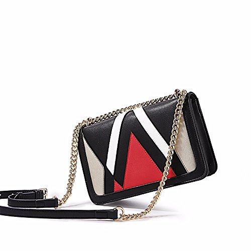 bag spalla new black black borsa catena cross body EFAgH