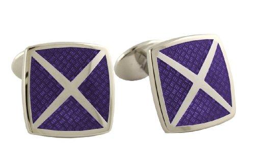 - David Donahue Sterling Silver 4 Cavity Cufflinks - Purple (H95540902)