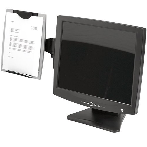 Fellowes(R) Office Suites Monitor Mount Copyholder, Black/Silver (Monitor Adhesive Mount)