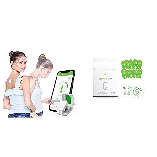 Upright GO 2 New Posture Trainer and Corrector for Back | Strapless, Discreet and Easy to Use & Upright GO2 Additional Adhesive Replacement Pack | Reusable Adhesive, 10 Pack