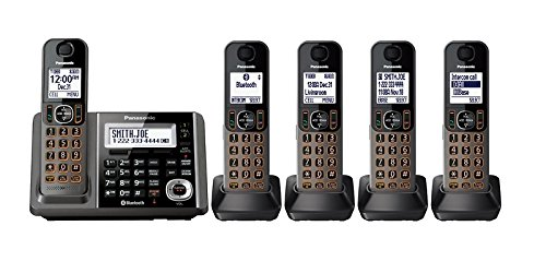 Panasonic KX-TG585SK DECT, 5-Handset Landline Telephone (Certified Refurbished)