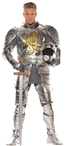 Knight In Shining Armor Costumes For Men (UHC Men's Medievel Knight In Shining Armor Outfit Halloween Fancy Costume, OS)