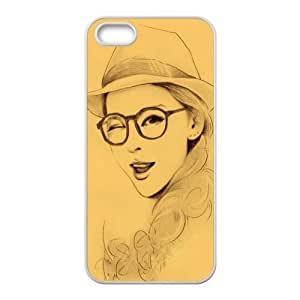 Custom Colored Drawing Back Cover Case for iphone5,5S JN5S-393