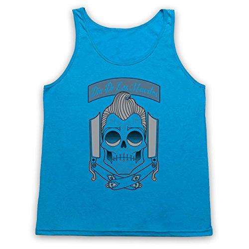 Dia De Los Muertos Mexican Day Of The Dead Tank-Top Weste, Neon Blau, Small