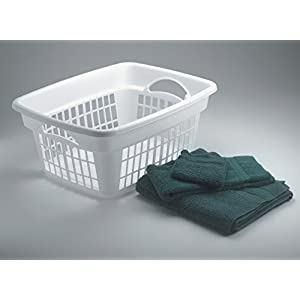 Rubbermaid Through-Handle Laundry Basket (FG287400WHT)