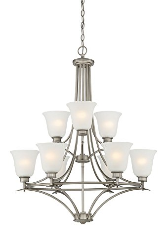 Designers Fountain 96989-MTP Montego 9 Light Chandelier, 35.75