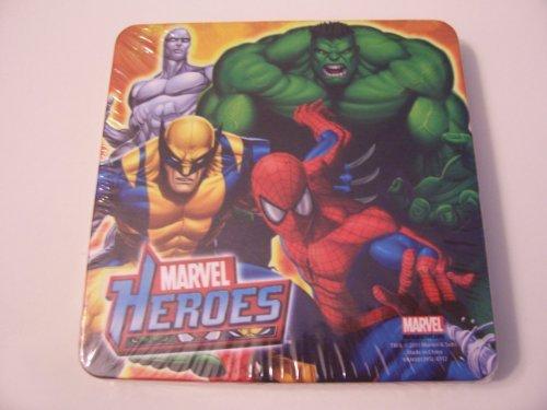 Marvel Heroes Cork Based Coasters ~ Hulk, Spiderman, Wolverine, Silver Surfer