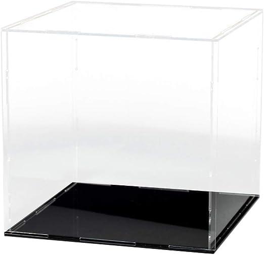 Acrylic Dustproof Case Box Round Base Showcase for Action Figure Model Toys