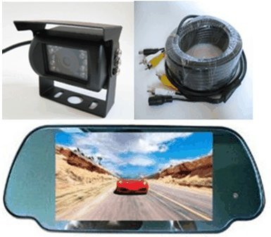 Cheap Rear View Mirror Camera System-7″ LCD Reverse Monitor & Color CCD 700TVL Rear View Backup Camera with Rain Shield, Free Bonus of 32 ft RCA Extended Cable. – by YanTech USA