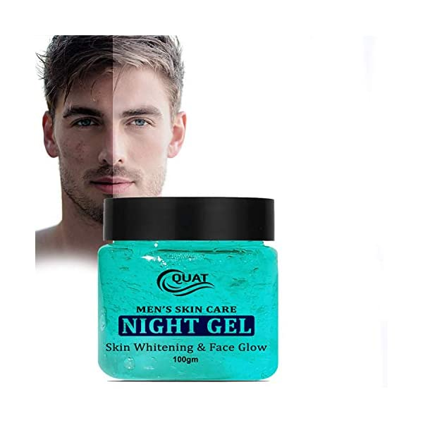 Quat Skin Care Night Gel Skin Whitening &Face Gel for Glowing Skin,Oily Skin,Women,Men (100gm) 2021 July Enriched with goodness of Lemon & Green Tea. This Effective Face Glowing Skin Gel for Women, Men UV filters to provide all day sin protection Light Weight Formula