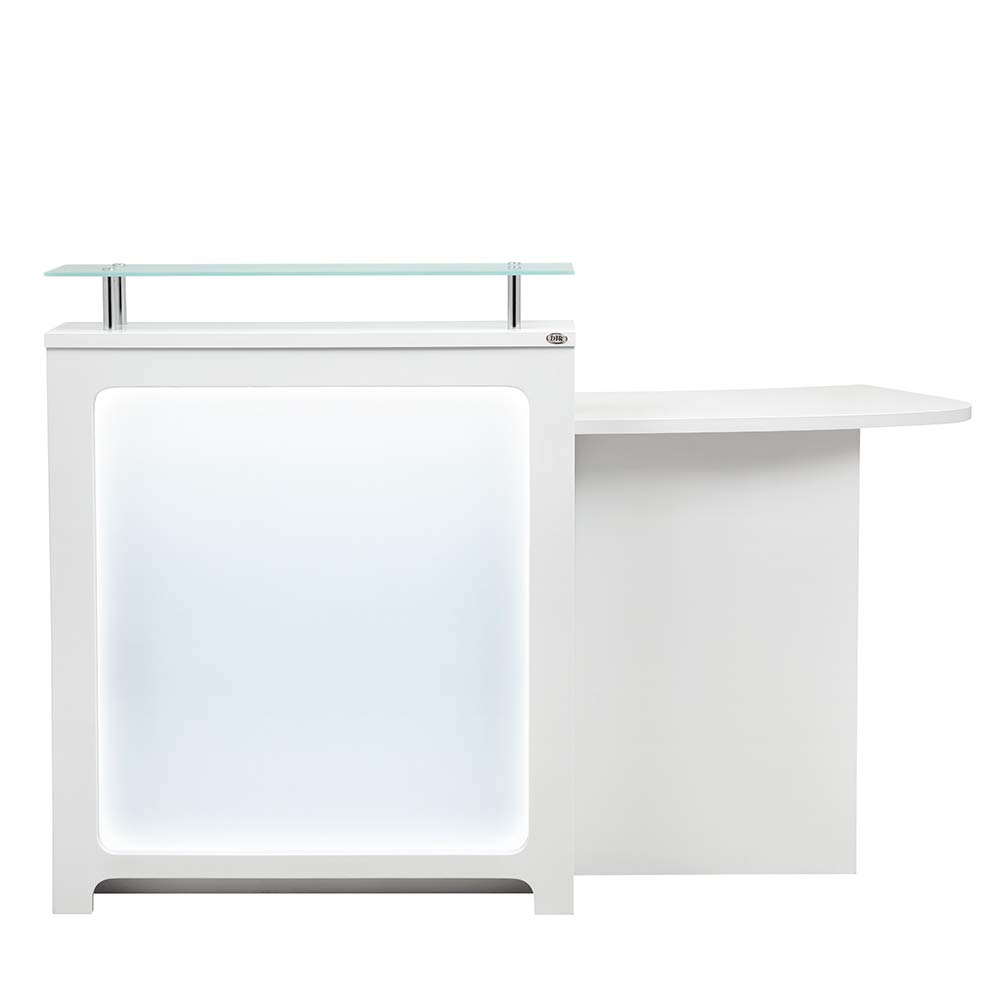 Reception Desk All Purpose Reception Counter Reception Area Desk With Illuminating Led Lights - Gattino by DIR