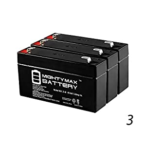 Mighty Max Battery 6V 1.3AH SLA Battery Replacement for Ohio 37 Printer - 3 Pack brand product by Mighty Max Battery