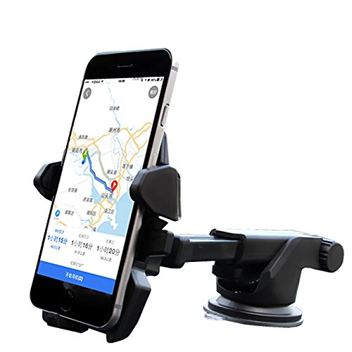 One hand,iBarbe Car Mount Universal Phone Holder Windshield Mount/Dashboard Bracket with Adjustable Arm for iPhone X 8/8 Plus 7 7 Plus 6s Plus 6s 6 SE Samsung Galaxy S8 Plus S8 Edge S7 S6 Note 8 5
