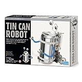 TS-3653/CS5 Casepack of 5 Tin Can Robots - Green