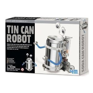 Toysmith Tin (TS-3653/CS24 Casepack of 24 Tin Can Robots - Green Science Recycle Project Kits)