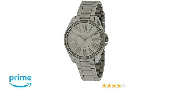 a8b93eb6a373 Amazon.com  Michael Kors Kacie Silver Dial Stainless Steel Ladies Watch  MK6183  Watches