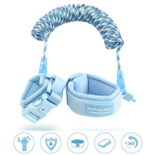 ICCUN Kids Safety Harness Children Leash Wrist Link Anti-Lost Traction Rope Harnesses & Leashes by ICCUN (Image #2)