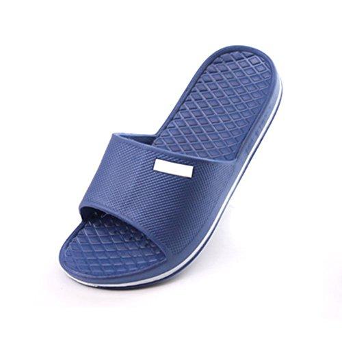 Rosesummer Sport Sandalias Deslizamiento Flip Flop Zapatos De Ducha Zapatillas House Pool Gym Azul