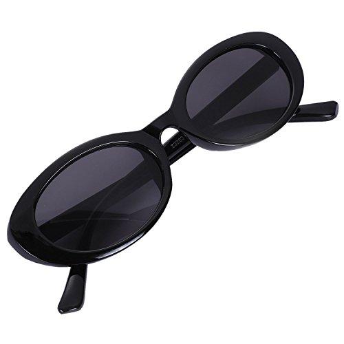 negro Gafas de de Ojo Cute Gafas para Ladies Sexy Vintage Mujer Gafas de Femeninas Mujeres sol UV400 gato Negro Pequenas SODIAL Sol Redondas Ovaladas xgYAwqO4g