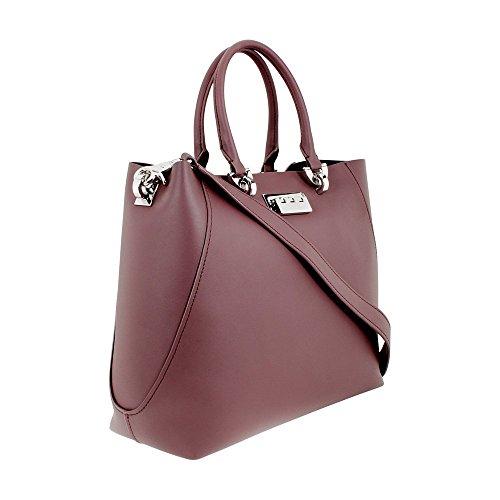 Purple Leather Satchel Ladies Large ETA Handbag Posen ZP1829 Zac Zwq1PI1