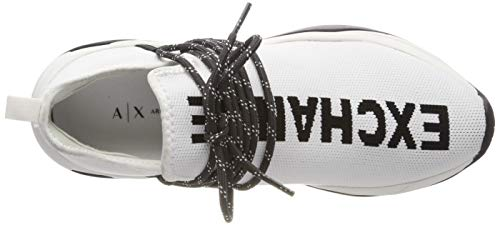 Armani Up Mujer Knitted 00001 Lace white Zapatillas Para Sneaker Exchange Blanco rPHgnq7r